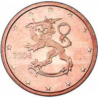 Suomija 2004 0.02 centai