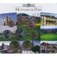 Prancūzija 2006 Euro monetų BU rinkinys La Bourgogne