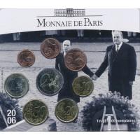 Prancūzija 2006 Euro monetų BU rinkinys Mitterand