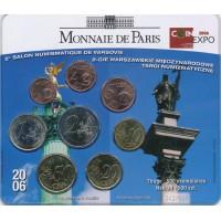 Prancūzija 2006 Euro monetų BU rinkinys Warsaw