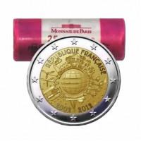 Prancūzija 2012 Eurų banknotų ir monetų dešimtmetis Rulonas
