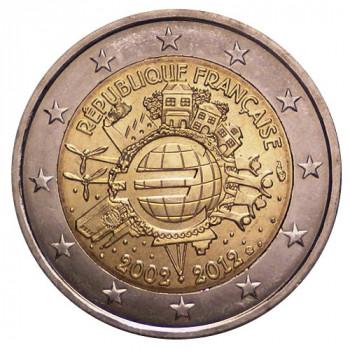 Prancūzija 2012 Eurų banknotų ir monetų dešimtmetis