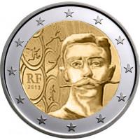 Prancūzija 2013 Pjero de Kuberteno (Pierre de Coubertin), olimpinių žaidynių atkūrimo iniciatoriaus, Tarptautinio olimpinio komiteto įkūrėjo ir pirmojo prezidento 150-osios gimimo metinės