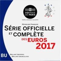 Prancūzija 2017 euro monetų BU rinkinys
