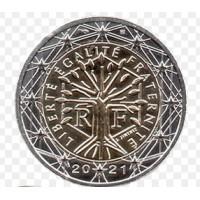 Prancūzija 2021 2 eurų apyvartinė moneta