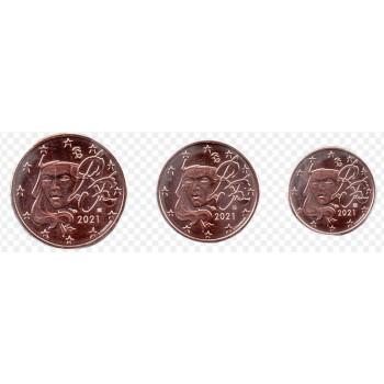 Prancūzija 2021 Euro monetų mini rinkinys