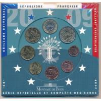 Prancūzija 2009 Euro monetų BU rinkinys