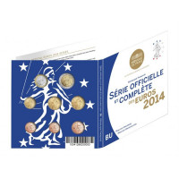 Prancūzija 2014 Euro monetų BU rinkinys