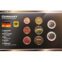 Vokietija 2002-2010 metų euro monetų rinkinys lankstinuke