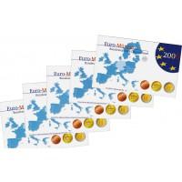 Vokietija 2006 Euro monetų Proof rinkinys A D F G J Schleswig-Holstein