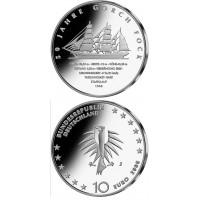 """Vokietija 2008 10 euro 50 metų laivui """"Gorch Fock II"""" J"""