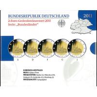 Vokietija 2011 A D F G J Westphalia BU rinkinys