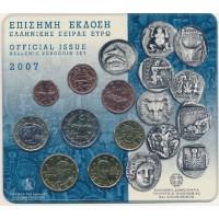 Graikija 2007 Euro monetų BU rinkinys