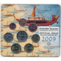Graikija 2009 Euro monetų BU rinkinys