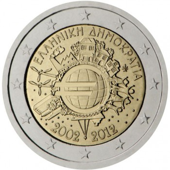Graikija 2012 Eurų banknotų ir monetų dešimtmetis