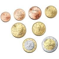 Graikija 2002-2010 Euro monetų UNC rinkinys skirtingų metų