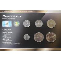 Gvatemala 1998-2007 metų monetų rinkinys lankstinuke