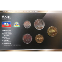 Haitis 1995-2003 metų monetų rinkinys lankstinuke