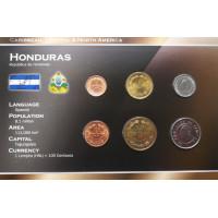 Hondūras 1956-2007 metų monetų rinkinys lankstinuke