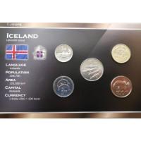 Islandija 2005-2008 metų monetų rinkinys lankstinuke