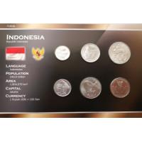 Indonezija 1999-2010 metų monetų rinkinys lankstinuke
