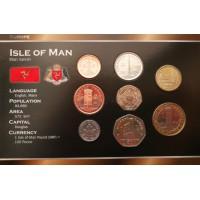 Meno Sala 2007-2012 metų monetų rinkinys lankstinuke