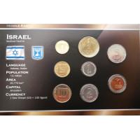 Izraelis 2002-2006 metų monetų rinkinys lankstinuke
