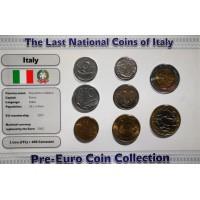 Italija 1978-1998 metų monetų rinkinys lankstinuke