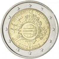 Italija 2012 Eurų banknotų ir monetų dešimtmetis
