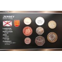 Džersis 1998-2006 metų monetų rinkinys lankstinuke