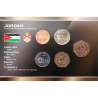 Jordanija 2002-2006 metų monetų rinkinys lankstinuke