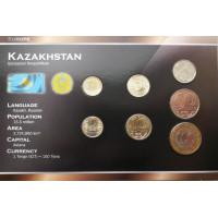 Kazachstanas 2002-2010 metų monetų rinkinys lankstinuke