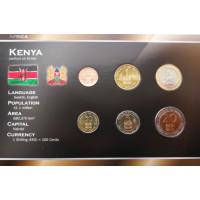 Kenija 1995-2005 metų monetų rinkinys lankstinuke