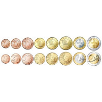 Kipras 2015 Euro monetų UNC rinkinys