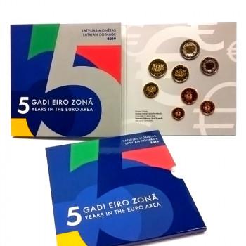 Latvija 2019 Euro monetų BU rinkinys