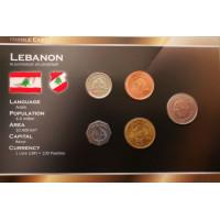 Libanas 1996-2006 metų monetų rinkinys lankstinuke