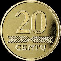Lietuva 2008 20 centų