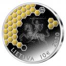 Lietuva 2020 10 euro Drevinei bitininkystei