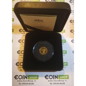 Lietuva 1999 10 litų Mažiausios aukso monetos pasaulyje. Aukso istorija