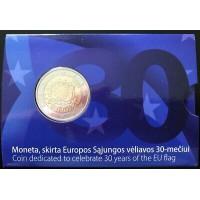 Lietuva 2015 Europos Sąjungos vėliavos 30-metis kortelėje