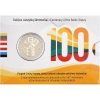 Lietuva 2018 Baltijos valstybių 100-metis Kortelė
