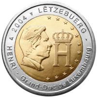 Liuksemburgas 2004 Didžiojo kunigaikščio Henri atvaizdas ir monograma