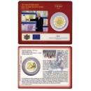 Liuksemburgas 2012 Eurų banknotų ir monetų dešimtmetis kortelėje