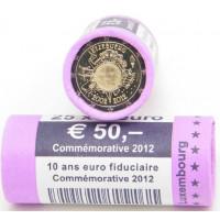 Liuksemburgas 2012 Eurų banknotų ir monetų dešimtmetis, Rulonas
