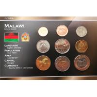 Malavis 1996-2006 metų monetų rinkinys lankstinuke