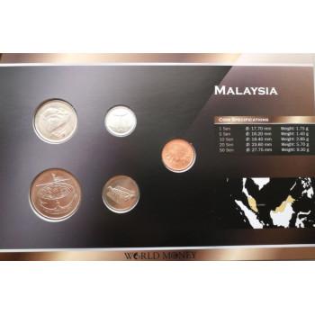Malaizija 2005-2011 metų monetų rinkinys lankstinuke