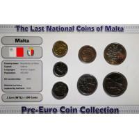 Malta 1998-2005 metų monetų rinkinys lankstinuke