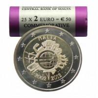 Malta 2012 Eurų banknotų ir monetų dešimtmetis Rulonas