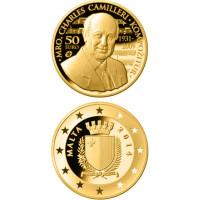 Malta 2014 50 eurų Charles Camilleri