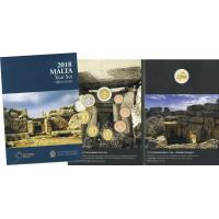 Malta 2018 Euro monetų BU rinkinys su progine moneta